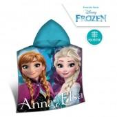 Poncho toalha em micro-fibra Frozen