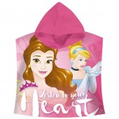 Poncho Toalha Princesas Disney Listen to your Heart