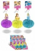 Porta chaves com pompom Princesas Disney - sortido