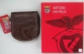 Porta Moeda Pata de Cavalo SLB  Benfica Castanho