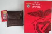 Porta Moeda Pele Benfica SLB Castanho