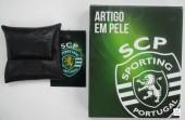 Porta Moeda Pele Sporting SCP Preto