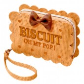 Porta moedas rectangular 12,5cm Oh My Pop - Cookie Biscuit