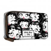 Porta-moedas rectangular Betty Boop - Noir