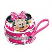 Porta moedas redondod Minnie Disney 3D