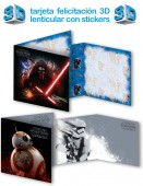 Postal de Aniversário 3D c/ autocolantes Star Wars - sortido