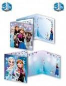 Postal Felicitações 3D Disney Frozen