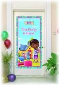Poster porta festa Doutora Brinquedos