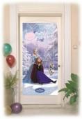 Poster porta festa Frozen blue