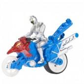 Power Rangers - Super Dino Transformável Motocicleta Prateada