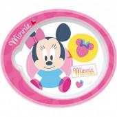 Prato Micro ondas Disney Minnie Baby I Love Fruit
