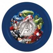 Prato plástico Marvel Avengers