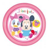 Prato raso Micro ondas Disney Minnie Baby I Love Fruit