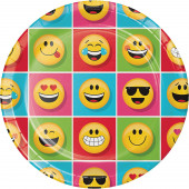 Prato Redondo 22cm Emoji 8 unid