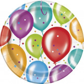 Pratos Festa Balloon Party 23cm - 10 und