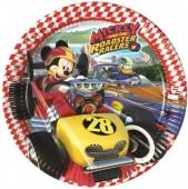 Pratos Mickey Super Pilotos 23cm - 8 Und