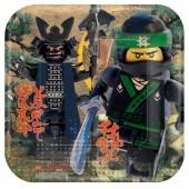 Pratos Ninjago Lego 23 cm - 8 Und