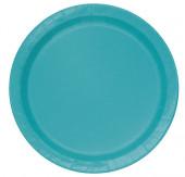 Pratos redondos 17cm  azul turquesa