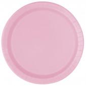 Pratos redondos 17cm Rosa Bebé 20 unid