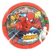 Pratos Spiderman Thwip! 20cm