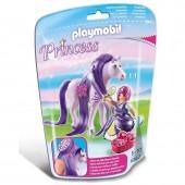 Princesa Viola + Cavalo Playmobil