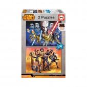 Puzzle 100 Star Wars 2 em 1