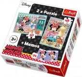 Puzzle 2 em 1 + Memo Minnie e Margarida
