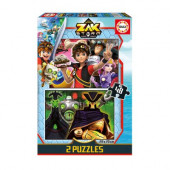 Puzzle 2 em 1 Zak Storm 48 peças