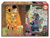 Puzzle 2x1000 peças Gustav Klimt