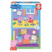 Puzzle 2x20 peças Porquinha Peppa