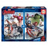 Puzzle 2x500 peças Avengers Marvel
