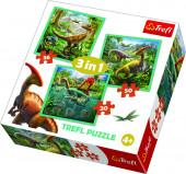 Puzzle 3 em 1 Dinossauros