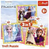 Puzzle 3 em 1 Frozen 2 Disney