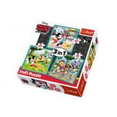 Puzzle 3 em 1 Mickey e Amigos