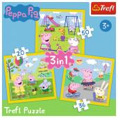 Puzzle 3 em 1 Porquinha Peppa