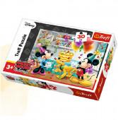 Puzzle 30 pcs Bolo aniversário Disney