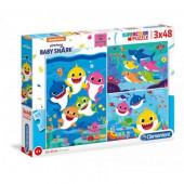 Puzzle 3x48 peças Baby Shark