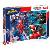 Puzzle 3x48 peças Spiderman