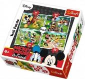 Puzzle 4 em 1 - Brincar no Parque - Personagens Disney