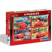 Puzzle 4 em 1 Cars Disney