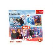 Puzzle 4 em 1 Frozen 2