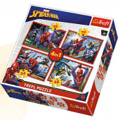 Puzzle 4 em 1 Spiderman