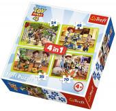 Puzzle 4 em 1 Toy Story 4