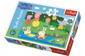 Puzzle 60 peças Porquinha Peppa Lago