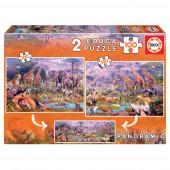Puzzle Animais Selvagens 2x100 peças
