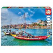 Puzzle Barcos Rabelos Porto 1000 peças