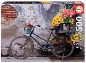 Puzzle Bicicleta com Flores 500 peças