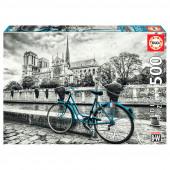 Puzzle Bicicleta Junto a Notre Dame 500 peças