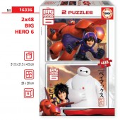 Puzzle Big Hero 6 Disney 2x48