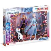 Puzzle Brilhante Frozen 2 Disney 104 peças